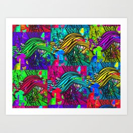 Patch of Waves Art Print