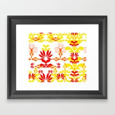 YELLOW RED Framed Art Print