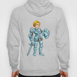 Warrior Princess With Battle sword and Shield Hoody