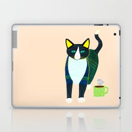 Graham the Cat with His Morning Coffee Laptop & iPad Skin