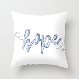 HOPE. JUBIL PRINTS Throw Pillow