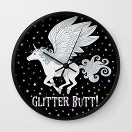 Glitter Butt! Wall Clock