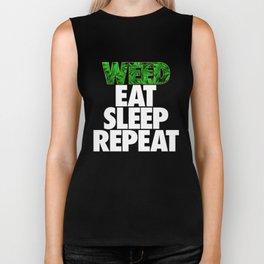 Weed Eat Sleep Repeat Biker Tank