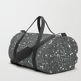Chaotic circles pattern. Dark Grey. Duffle Bag