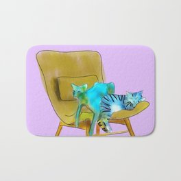 animals in chairs #12 Cats Bath Mat