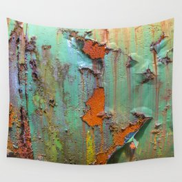 Flaking Paint on Rust Wall Tapestry