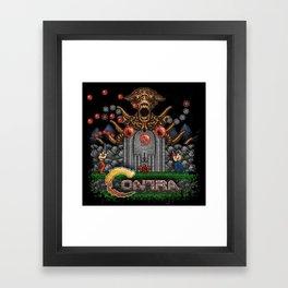 Contras Framed Art Print