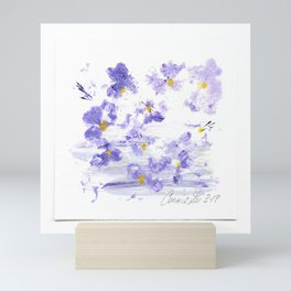 Mini Impressions: FIELD PANSY Mini Art Print