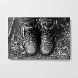 Hiking boots Metal Print