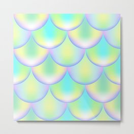Magic Mermaid Scale, Holographic Color Print Metal Print
