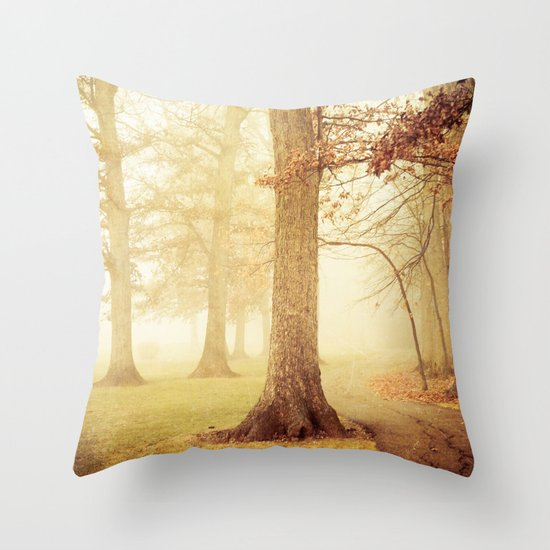 I Heard Whispering in the Woods Throw Pillow