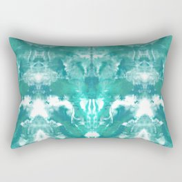 Aqua Blue Lagoon Rectangular Pillow