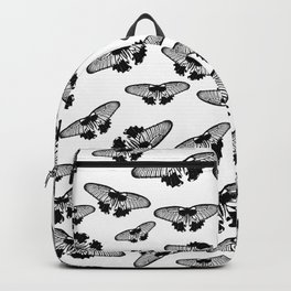 Butterflies in black and white Backpack