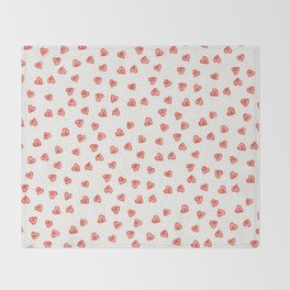 Sparkly hearts Throw Blanket