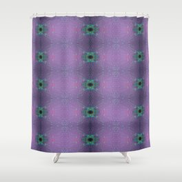 Silicon-based life form - E5 purple Shower Curtain