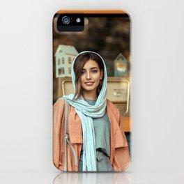 Beautiful Women Wearing Head Scarf iPhone Case