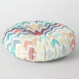 Watercolor Chevron Pattern Floor Pillow