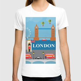 London, England - Collage Illustration by Loose Petals T-shirt