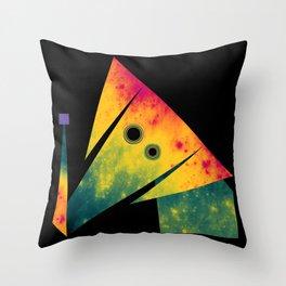 Elephant Exploring Space Throw Pillow