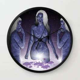 The Creators. (Gods a Girl) Wall Clock