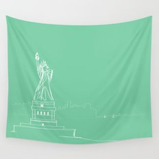 New York by Friztin Wall Tapestry