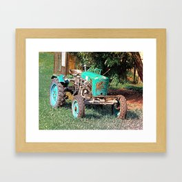 Old traditional Lindner tractor   conceptual photography Framed Art Print