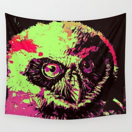Rainbow Spectacled Owl Wall Tapestry