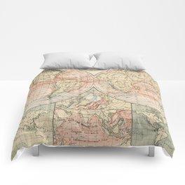 Vintage World Ocean Currents Map (1905) Comforters