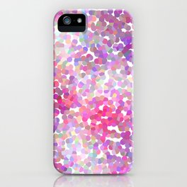 Pink and Purple Galaxy Confetti iPhone Case