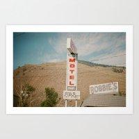 Robbies Motel, Ashcroft, BC Art Print