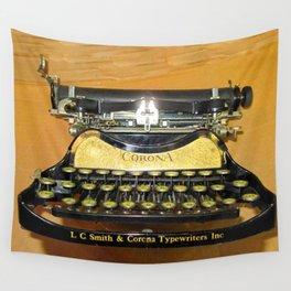 corona vintage typewriter Wall Tapestry