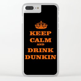 dunkin donuts Clear iPhone Case