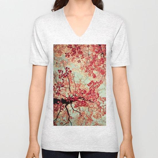Autumn Inkblot Unisex V-Neck