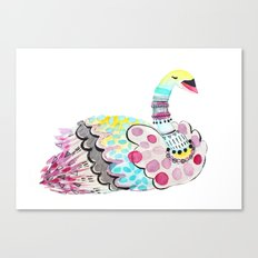 Patterned Swan Canvas Print