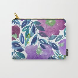 hand painted flowers_1b Carry-All Pouch