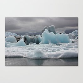 Glacial Lagoon Canvas Print