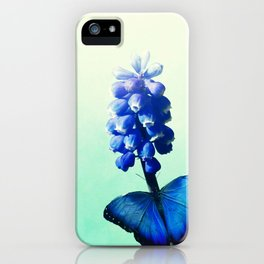 Blue bells on wings iPhone Case