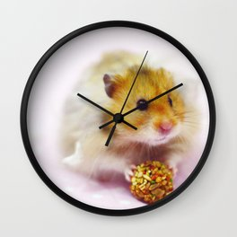 Cute Simon the Hamster Wall Clock
