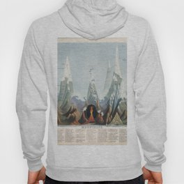 Vintage Print - Mountains (Comparative Heights) (1851) Hoody
