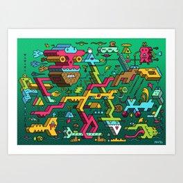 Blockhead Ensemble Art Print