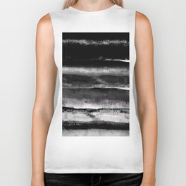 Modern black and white abstract painting in elegant and minimal style Biker Tank