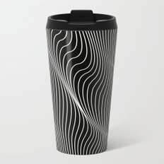 Minimal curves black Metal Travel Mug
