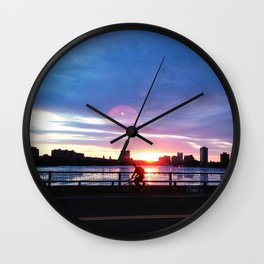 Bicycle Sunset Wall Clock