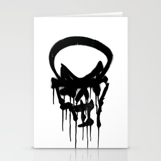 Graffiti Skull Stationery Cards