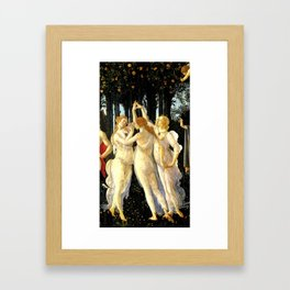 Sandro Botticelli Primavera The Three Graces Framed Art Print