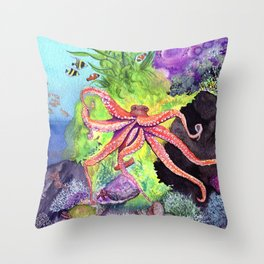 Journey Under the Sea Part 2 by Maureen Donovan Throw Pillow