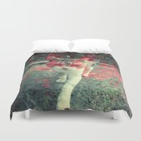 evil Duvet Covers featuring Evil cat by Deprofundis