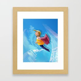 Bird woman Framed Art Print