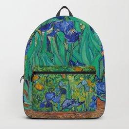 Vincent Van Gogh's Irises 1889 Backpack