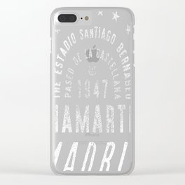 Madrid Football Ground Clear iPhone Case